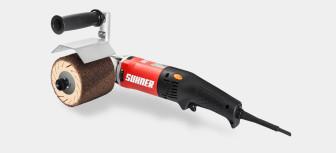 Suhner UPK 5-R с установленным барабаном ESW 90×100 и шлифовальным кольцом.