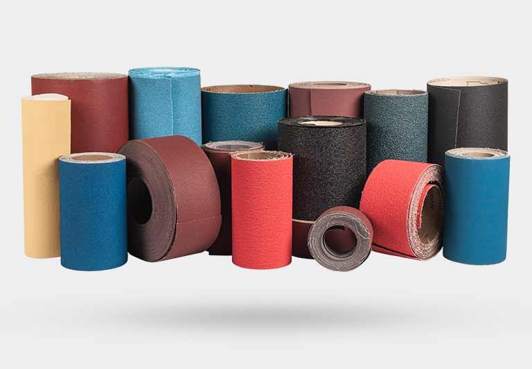 Шлифовальная шкурка в рулонах на бумажной и текстильной основе