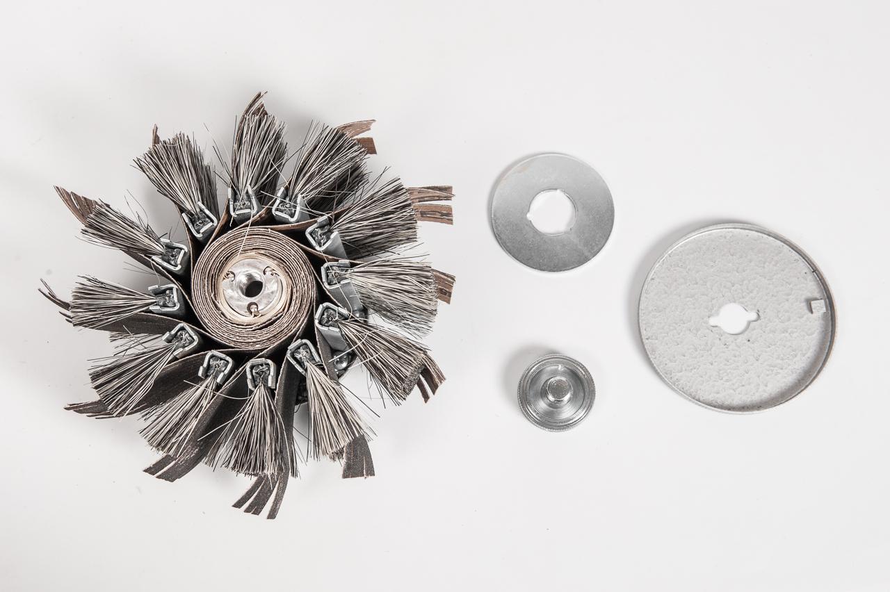 Щётка шлифовальная наборная для сатинирования, M14 - замена расходных материалов