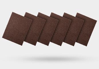 салфетки и рулоны из нетканого абразива для ручной обработки
